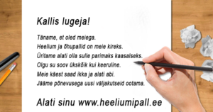 Heeliumipall.ee blogi