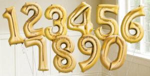 Suured kuldsed numbrid 87cm, hind alla